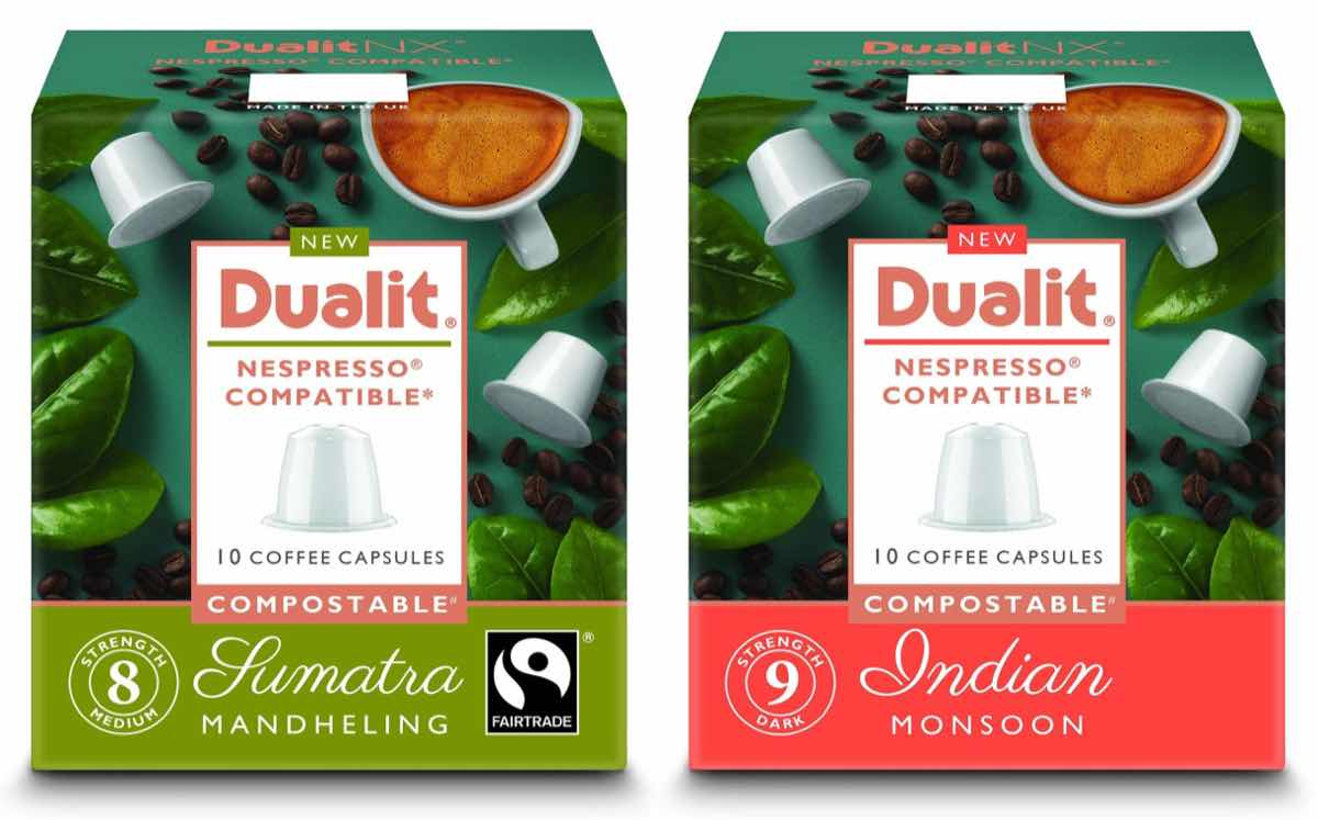 Dualit's compostable capsules for single origin coffees