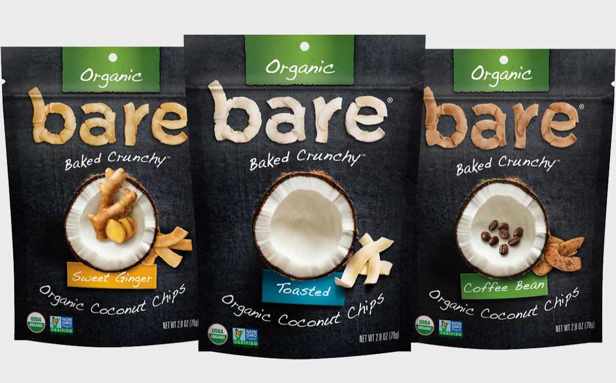Bare Snacks launches new line of organic baked coconut chips