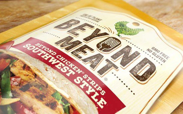 Meat-free brand Beyond Meat unveils 'bold' new pack design