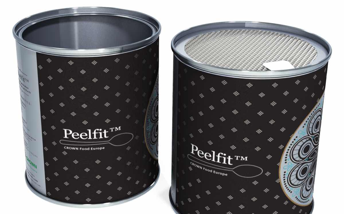 Crown Food Europe develops 'unique' can with peelable foil