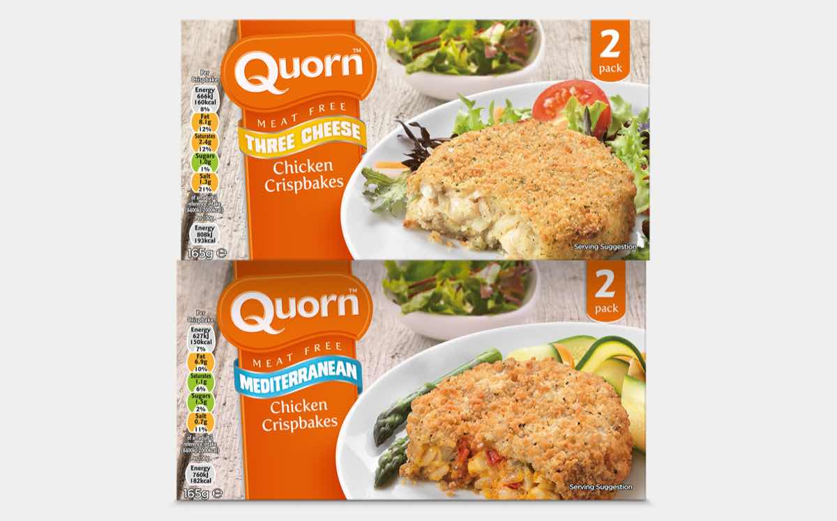 Quorn Foods launches new meat-free crispbakes and escalopes