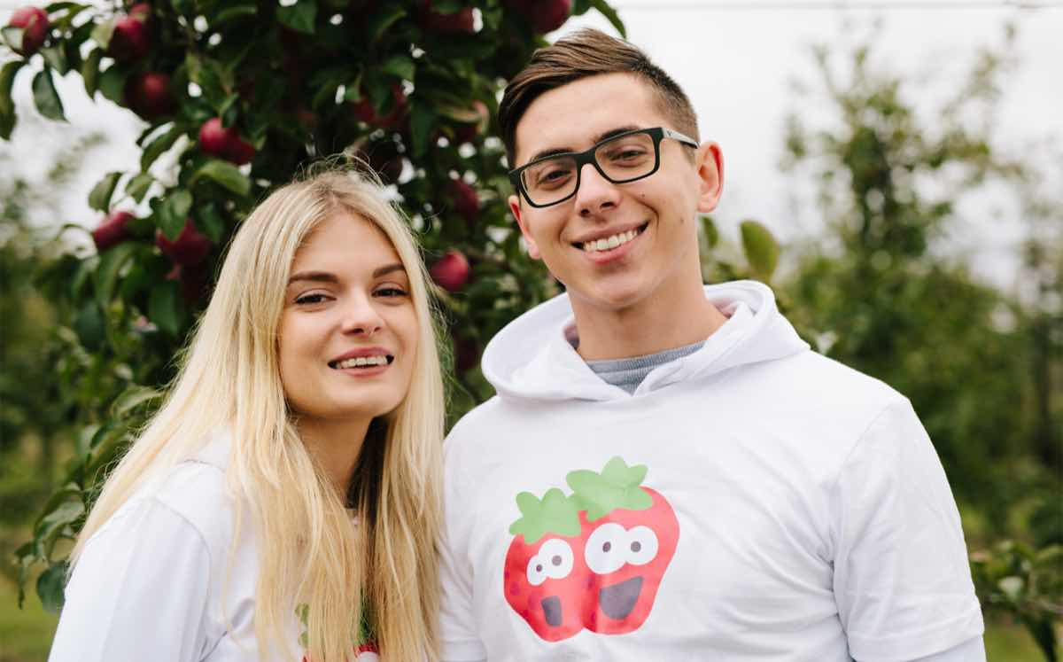 The brand is the work of a team of UK students, plus Karina Sudenyte (left) and Maciek Kacprzyk.
