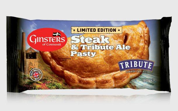 Ginsters teams up with Cornish brewer on steak and ale pasty