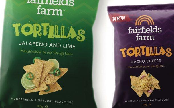 Fairfields Farm launches duo of tortilla crisps with artisan edge
