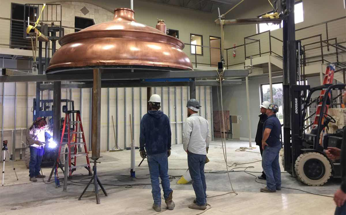An original copper kettle will form the centrepiece of the new brewery's taproom.