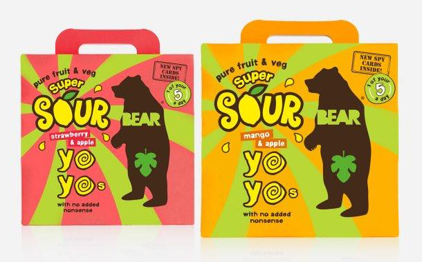 Bear Nibbles expands Yoyos fruit snack with 'super sour' varieties