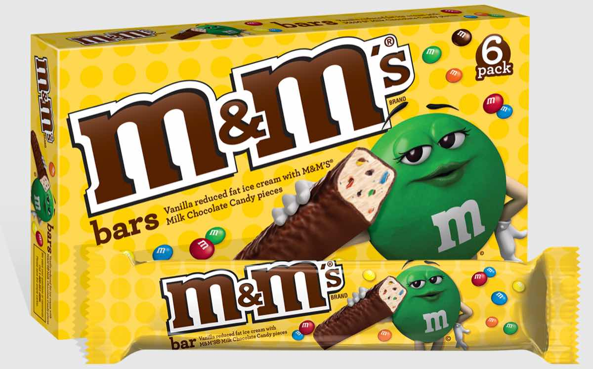 Mars introduces individually wrapped M&M's ice cream bars