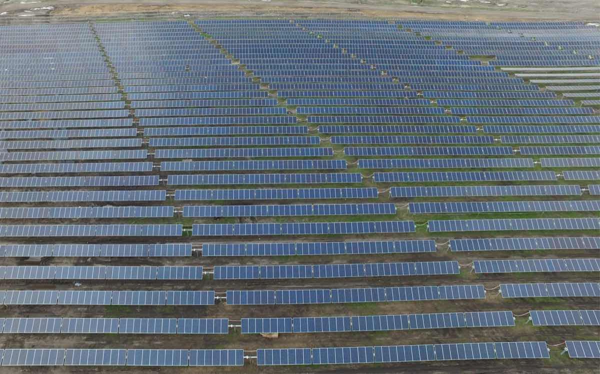 There are nearly 150,000 solar panels on the 260-acre site.