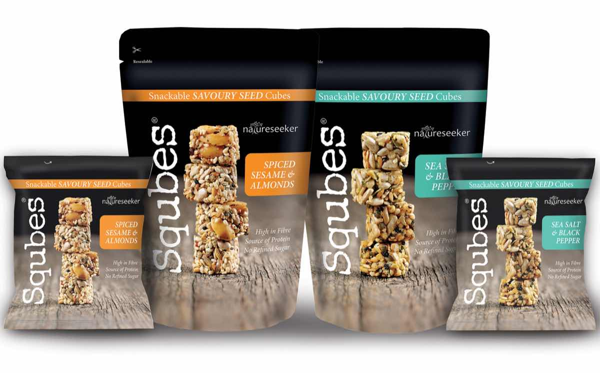 Squbes launches range of bite-sized seed and nut cube snacks