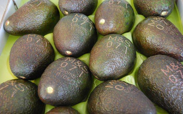 M&S seeks to save paper with new laser-printed avocados