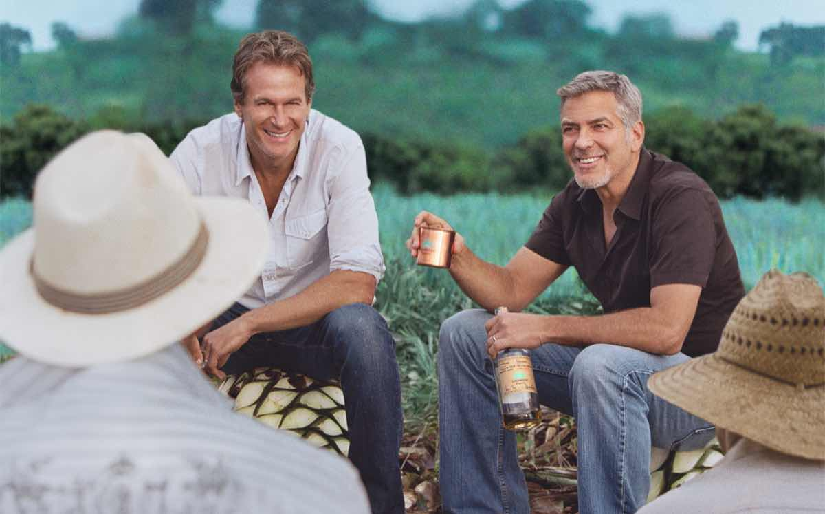 Casamigos was founded by Rande Gerber (back, left) and Clooney.