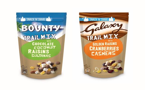 Mars introduces Bounty and Galaxy sharing trail mix packs
