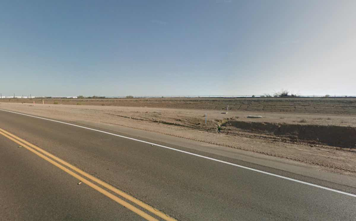 The site is in an area of east Mesa earmarked for development. © Google