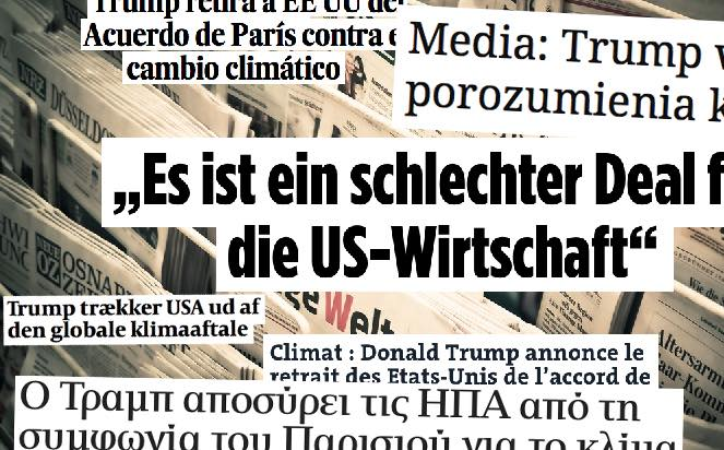 Trump talk: the US' withdrawal from the Paris Accord was met by shock in generally liberal Europe.