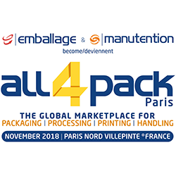 All4Pack 2018 @ Paris Nord Villepinte | Paris | Île-de-France | France