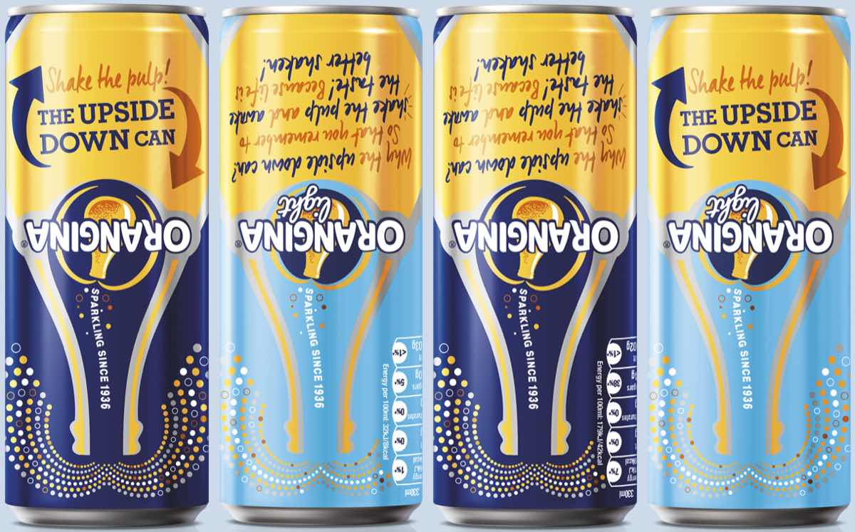 New Orangina design aims to turn can market on its head