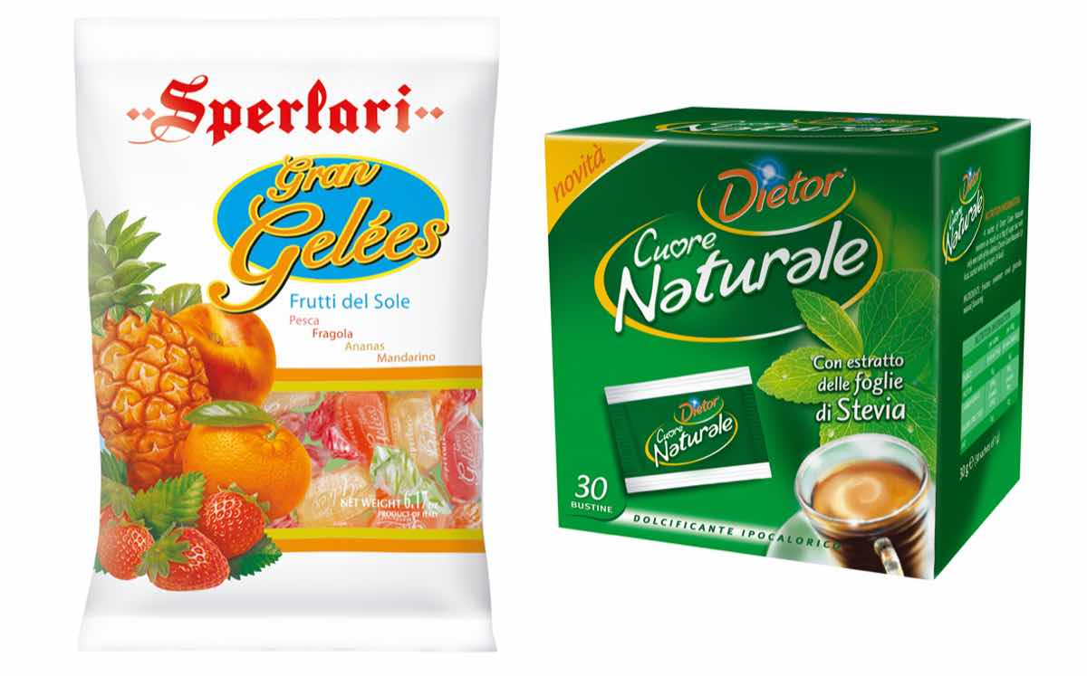 The sale includes Sperlari sweets and Dietor brand of low-calorie sweetener.