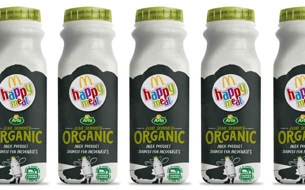 Arla launches newly co-branded milk bottles with McDonald's