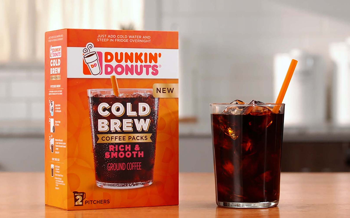 Dunkin' Donuts unveils 'rich and smooth' cold brew coffee packs