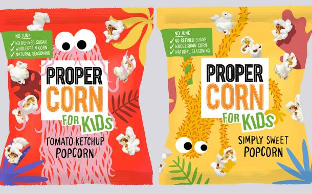 Propercorn launches snack range for children in two new flavours