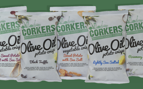 British brand Corkers launches range of gourmet olive oil crisps