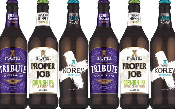 St Austell Brewery targets shelf presence with new beer bottles