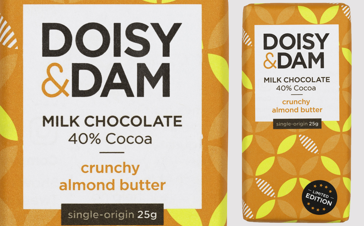 Doisy & Dam unveils almond chocolate and new packaging