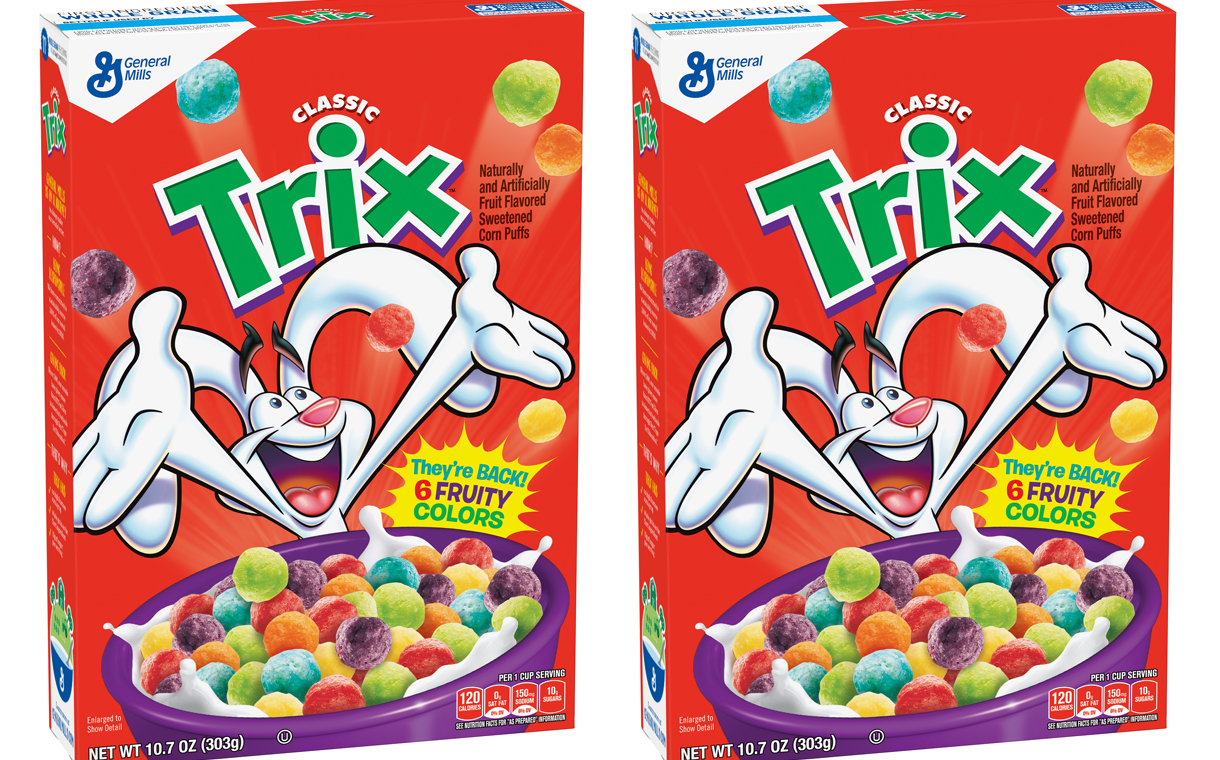 general mills to bring back trix cereal with artificial colours