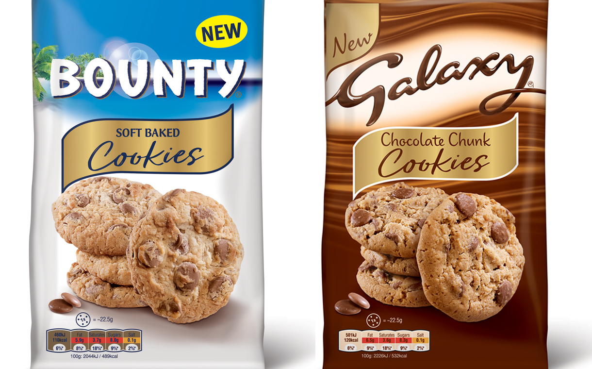 Mars Launches Galaxy Bounty And Mms Cookie Range