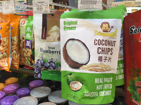 'Real, toasted' coconut chips from Thailand