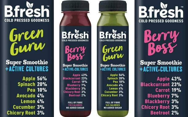 B.Fresh unveils Super Smoothies + Active Cultures range in the UK