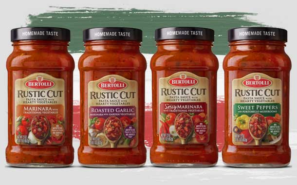 Mizkan America launches range of 'Rustic Cut' Bertolli sauces