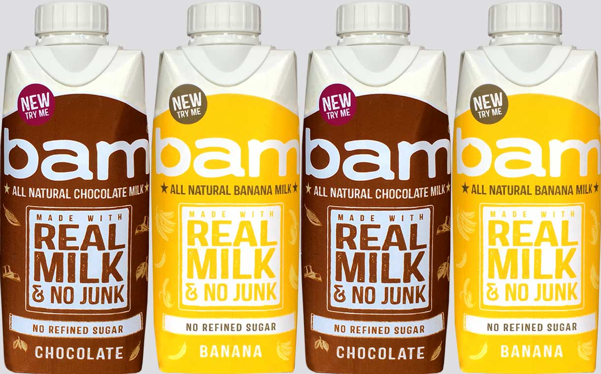 Honey-sweetened milkshakes: Bam launches with two flavours