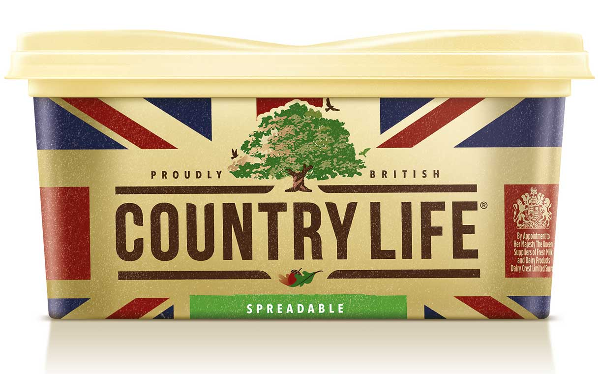 Dairy Crest's Country Life butter gets updated packaging