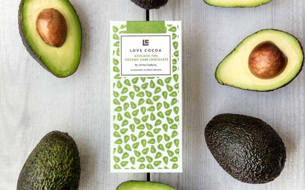 Love Cocoa launches Europe's 'first ever' avocado chocolate bar