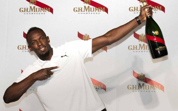 G. H. Mumm and Usain Bolt launch Mumm Grand Cordon