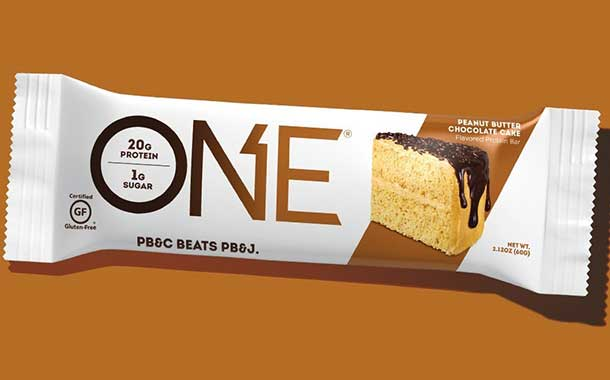 One Brands debuts high-protein peanut butter chocolate cake bar