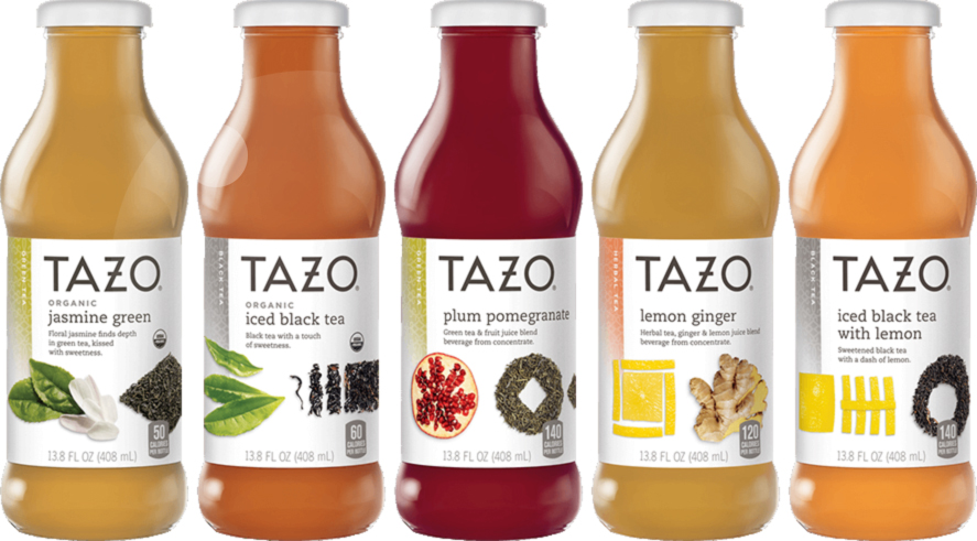As well as hot teas, Tazo sells K-Cup pods, liquid concentrates and bottled RTD teas.