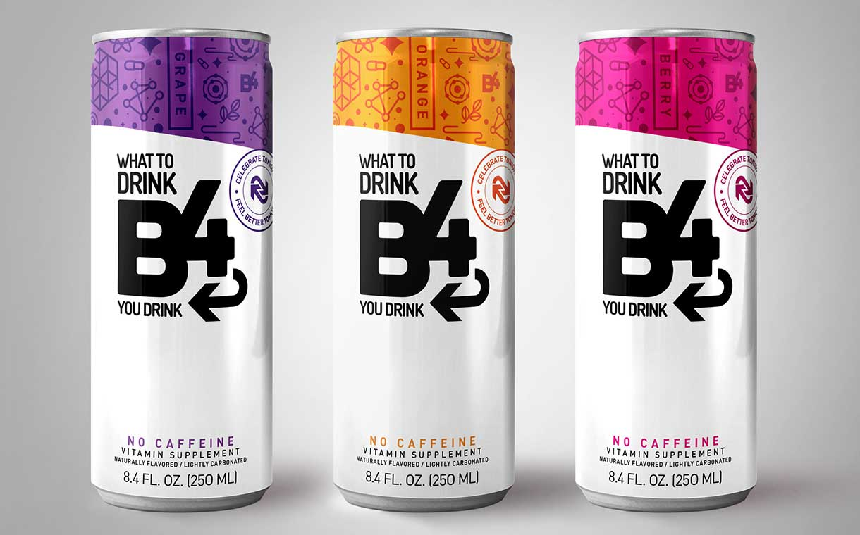 B4 unveils two new flavours of its anti-hangover supplement