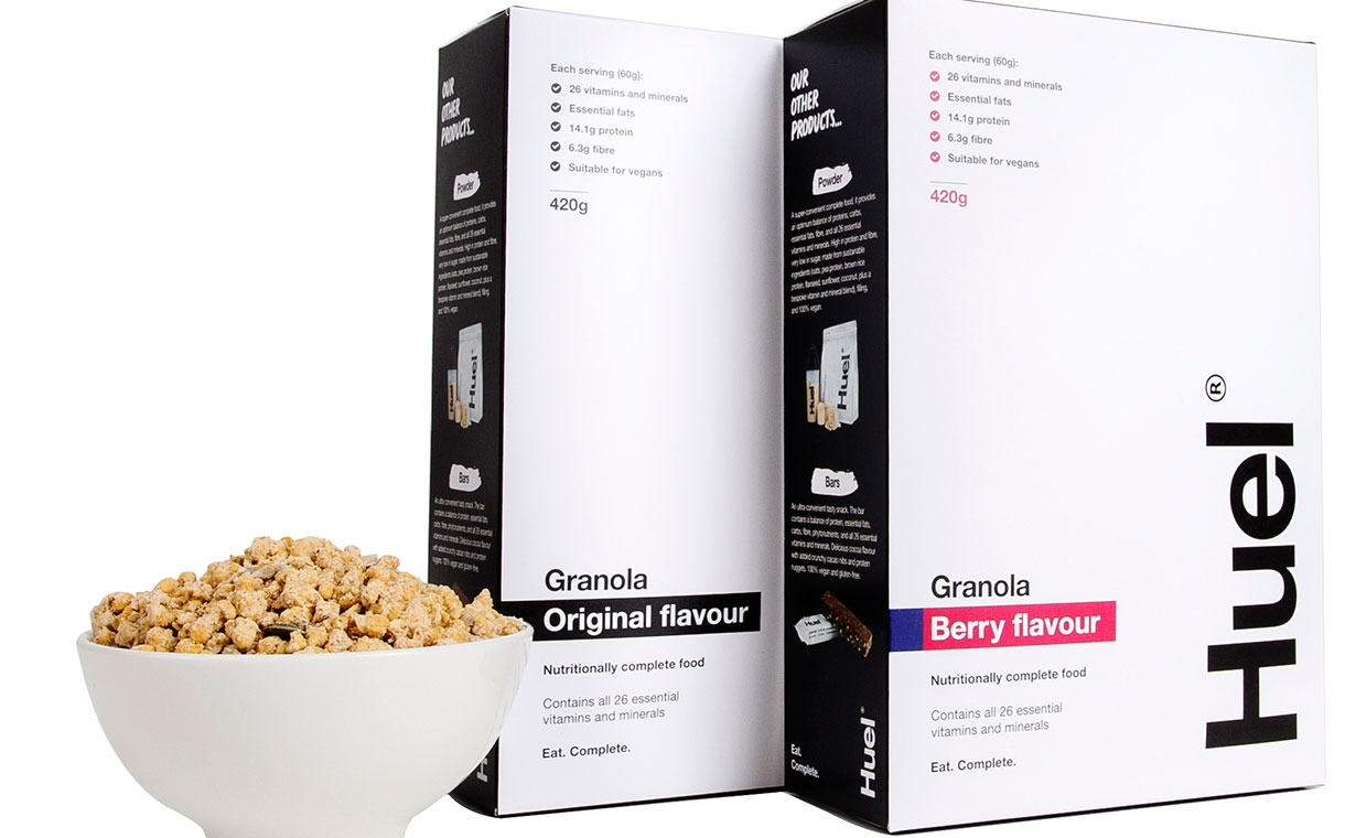 Huel shifts focus from powdered food to cereal with new granola