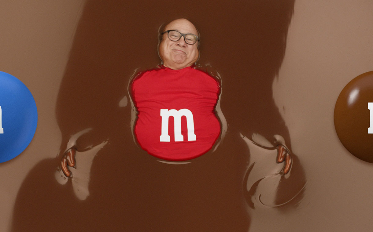 mars partners with danny devito for m m s super bowl advert