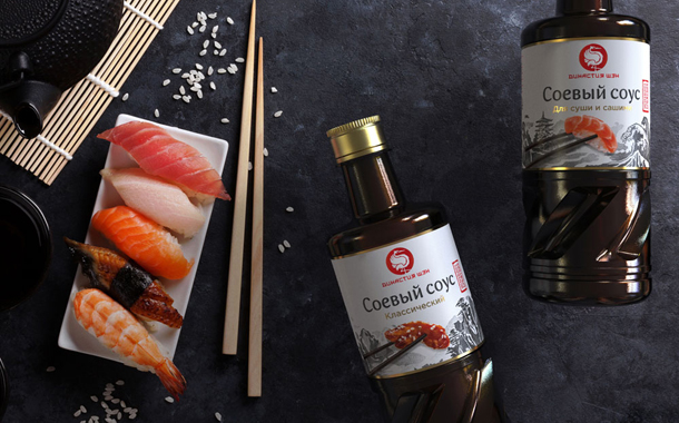 The labels draw on various aspects of Japanese culture and cuisine. © Pride/ragordost.ru