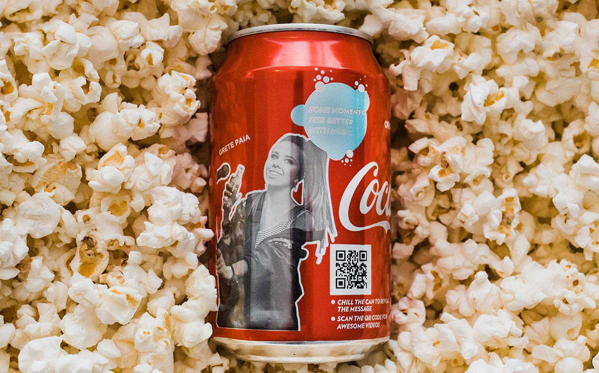 Crown's colour-changing inks feature on new Coca-Cola cans