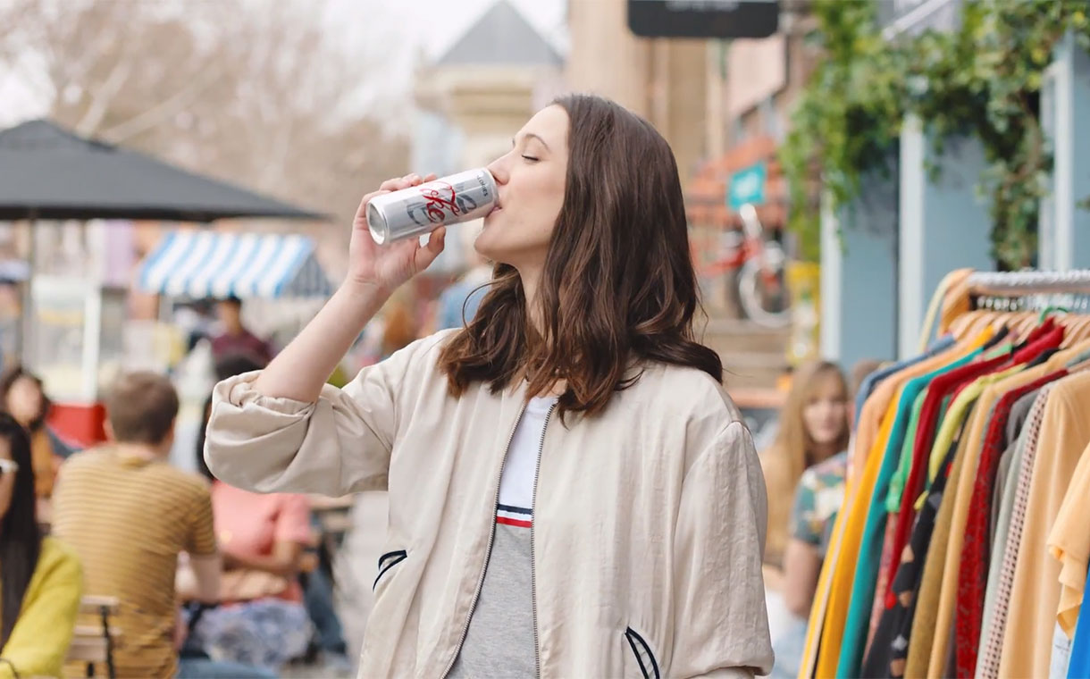 Diet Coke rebrand includes £10m ad spend and two new