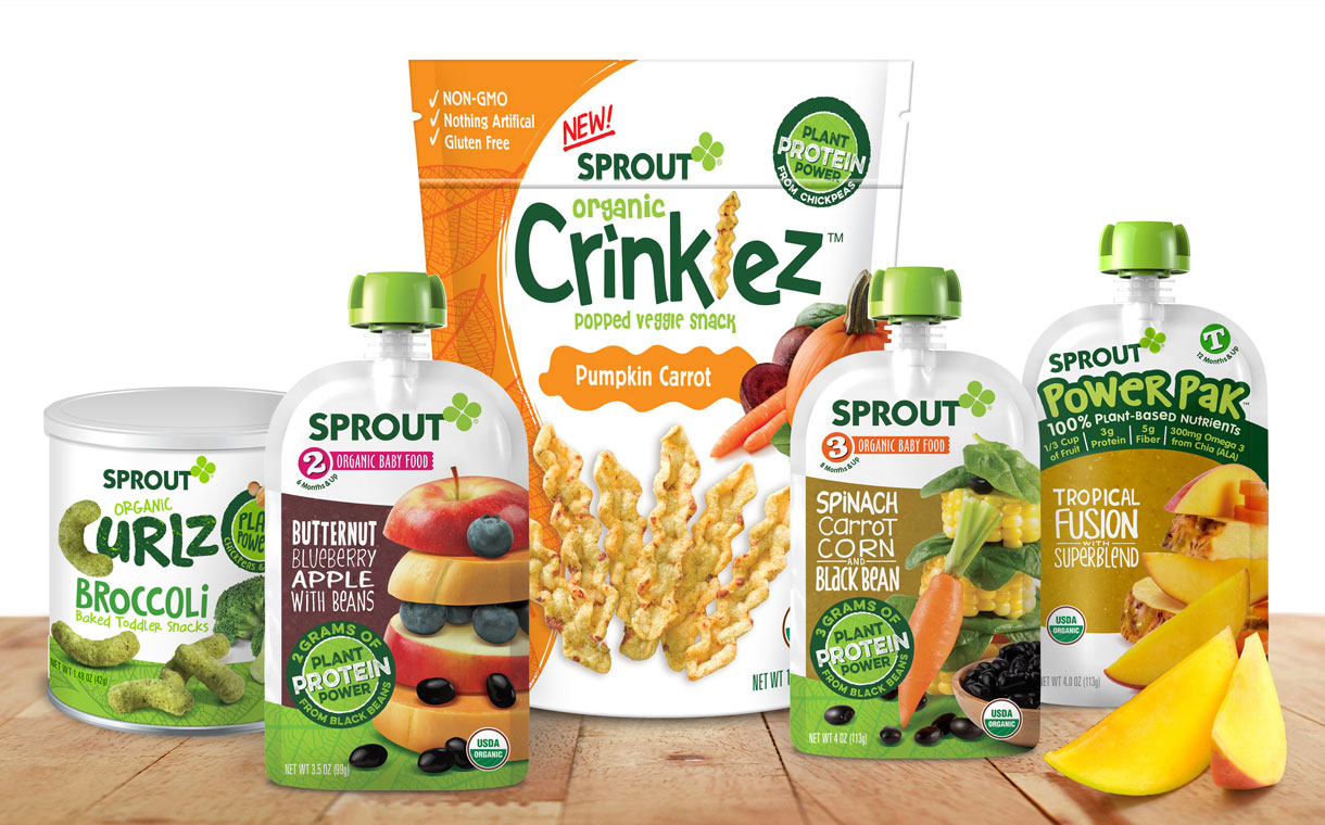 Sprout Foods unveils new plant-based products for infants