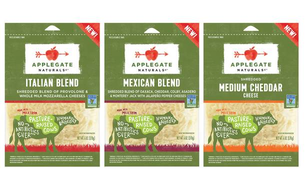 Hormel's Applegate introduces new sliced and grated cheeses
