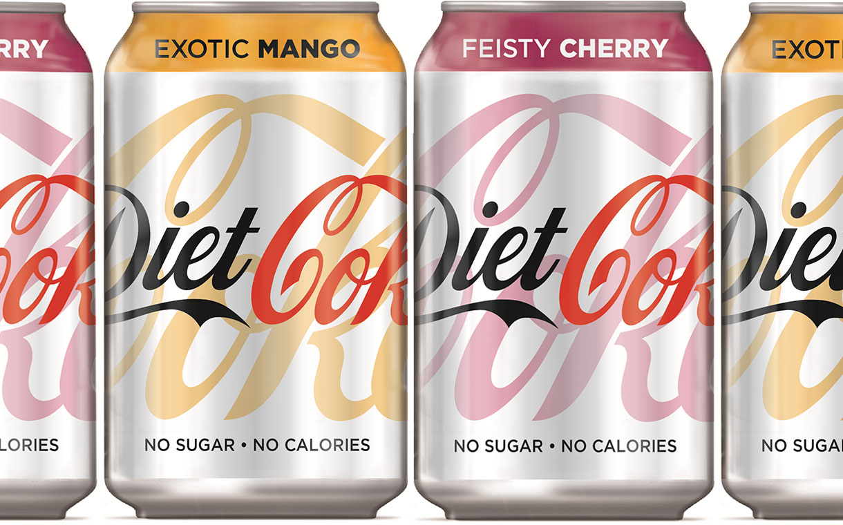 CCEP introduces exotic mango and feisty cherry Diet Coke