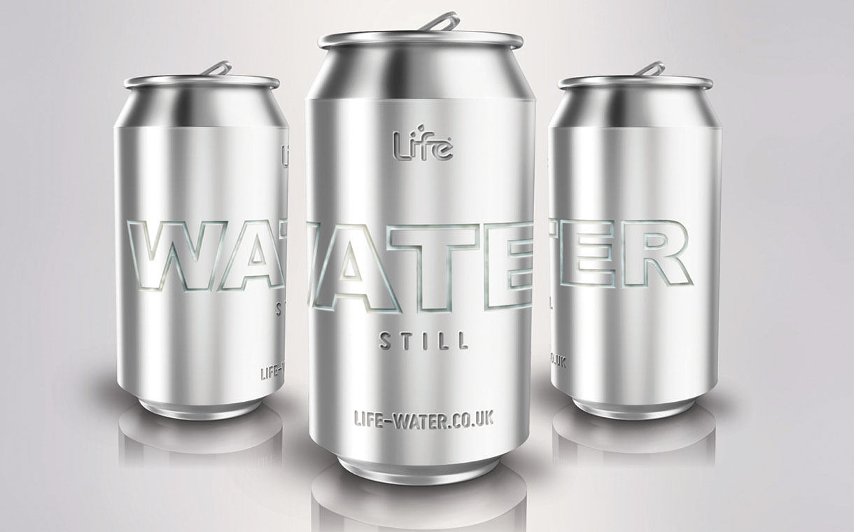 Life Water to launch 'UK's first' zero-plastic canned spring water