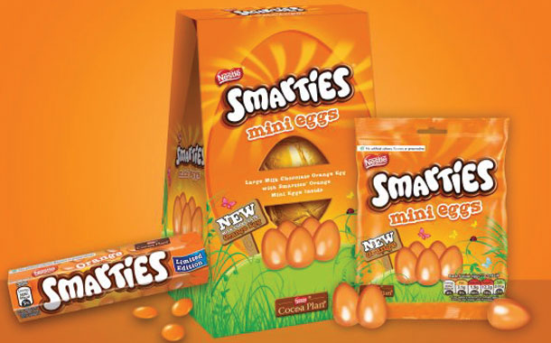 Nestlé UK reintroduces Orange Smarties for a limited time