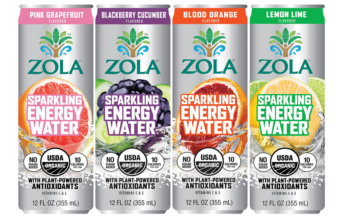 Zola introduces four-strong line of sparkling energy waters